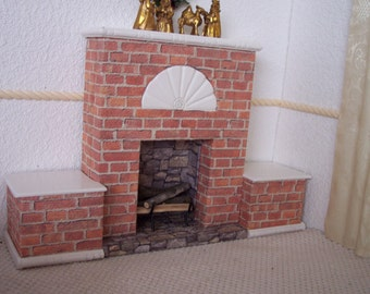 1:6 Fireplace for Silkstone Barbie, Fashion Royalty, Blythe