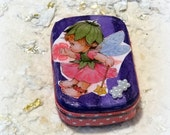 Tooth Fairy Box, Purple, Pink,  Baby Shower Gift, Baby Teeth Keeper, Children, Altered Altoid Mini Tin
