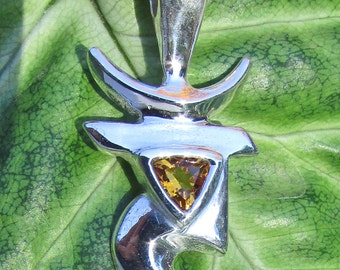 Chakra Jewelry, Manipura, Third Chakra, Citrine, Chakra Pendant, Chakra Necklace, Citrine Birthstone, Yoga, Meditation, Energy Healing, Sun
