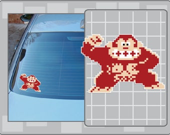 DONKEY KONG Sprite No. 1 vinyl decal from Donkey Kong Sticker for Almost Anything!