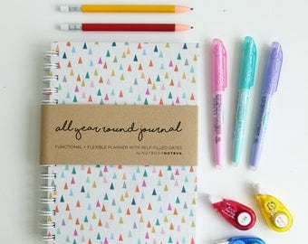 Planner - Weekly Planner - Monthly Planner - 2017 Planner - College Planner : AYR Triangles