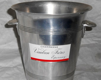 French vintage champagne ice bucket