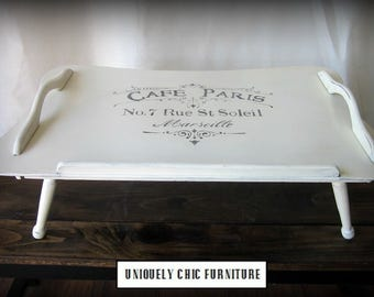 French Graphic Bed Tray~ Lap Desk