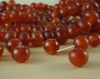 10 Amber color Horn Beads 8mm Round Golden Color Natural Animal Beads Real horn