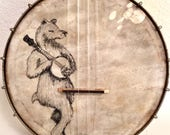 Vintage Banjo Bear Painted On A harmony BANJO UKULELE banjolele Uke Regal pre war may bell