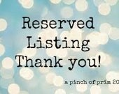 Reserved Listing Deanne