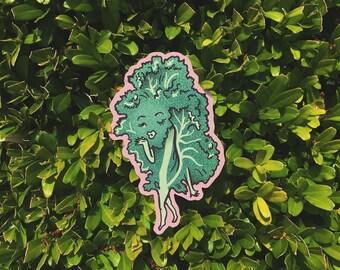 Kale Queen Sticker | Vegan Sticker | Veggie Characters | illustrated sticker | waterproof