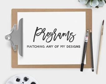 custom wedding program design make your own wedding suite printable pdf