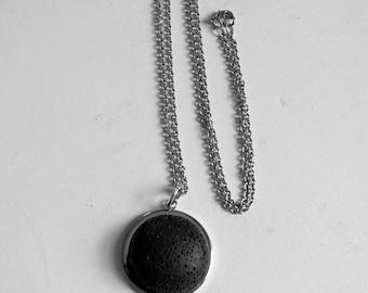 Unisex Stainless Steel Essential Oil Necklace Lava Stone Necklace Aromatherapy Necklace Aromatherapy Jewelry Unisex Minimalist Necklace Boho