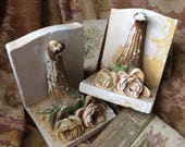 This Vintage Chippy Chalkware Rose Bookends With Have Your Mouth Watering