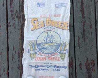 A Vintage Sea Breeze Ok Its A Corn Meal Cotton Sack