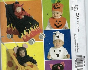 Destash - Toddler Hat & Bib Halloween Costume Pattern - Halloween Stroller Cover Pattern - Craft Sewing Pattern - McCall's M5501
