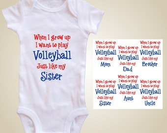 Volleyball baby one piece - When I grow up