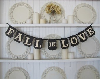 Fall in Love Banner, Wedding Sign, Fall in Love Sign, Fall Wedding, Wedding Banner, Wedding Decoration, Fall Wedding Decoration