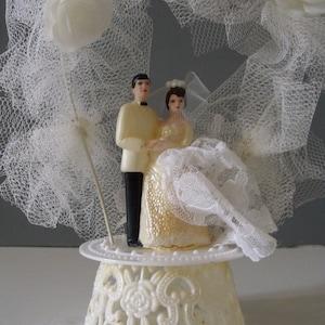 etsy vintage wedding cake topper sale