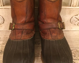 Vintage LL Bean Boots -   Size 8 W - Rugged, Broken in - Bean Duck Boots