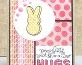 Peeps Easter Card- Hugs Card- Peeps Card- Yellow Peeps- Easter Cards- Spring Cards