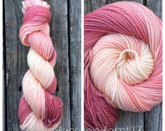 Hand Dyed Yarn, Variegated Yarn, Aran Weight,  Knitting Yarn, Dyed Yarn, 181 yards