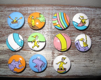 "Dr. Seuss ""Places you will go""dresser knobs"