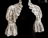 Wedding shrug, Art Nouveau, ivory shrug, off white bolero, Devia, Somnia Romantica, size small see item details for measurements