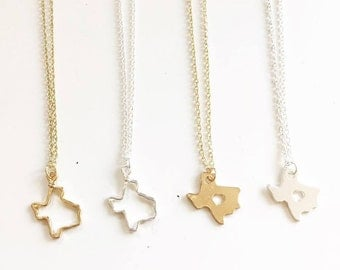 texas state necklace | dallas houston San Antonio austin | souvenir