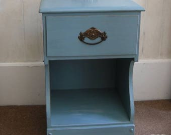 Painted Nightstand One Drawer Shabby Chic Painted Furniture Home Decor Bedroom Furniture