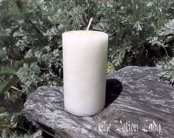 Unscented White Pillar and Votive Candles
