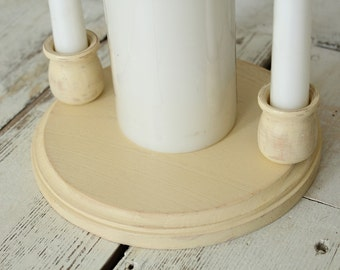 Unity Candle Holder Rustic Wedding