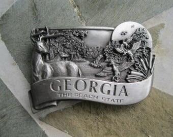 Georgia Belt Buckle. Bergamot Brass . Free US Shipping