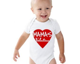 Mama's Valentine Baby bodysuit