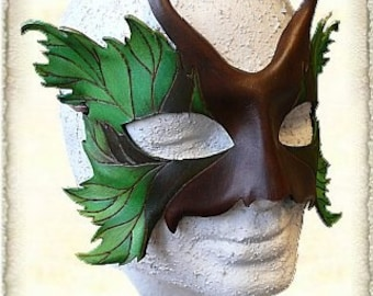 Hand made leather mask