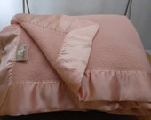 ST MARYS Ohio Blanket Pink Wool King/Queen Special Price
