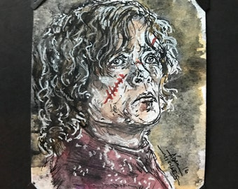 Tyrionne Ink and Watercolor Original Art Card
