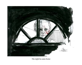 The Night He Came Home Halloween 11x14 signed and numbered print