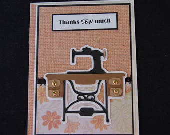 Thanks Sew Much - Blank Card and Coordinating Envelope