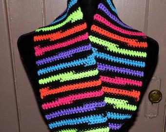 Neon Stripe Cowl