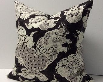 Williamsburg Dunmore Dragons Black Orchid Designer Pillow Cover