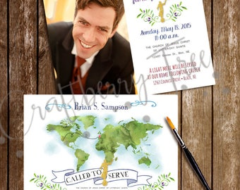 LDS Mission Call Announcement/Invitation PERSONALIZED (Digital File)