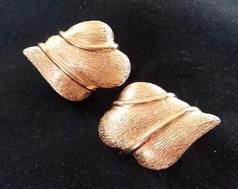 Vintage Designer Goldtone Clip On Earrings Christian Dior Jewelry