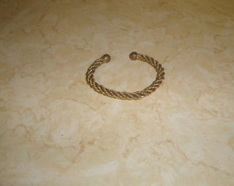 vintage bracelet goldtone braid cuff