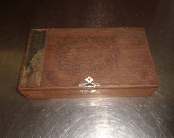 vintage wood cigar box donna roma tobacciana