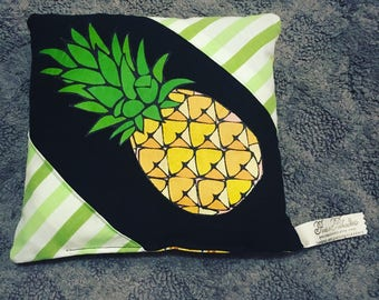 Tooth Fairy Pillow - Pineapple - Made from an Upcycled Tshirt and Coordinating Fabrics