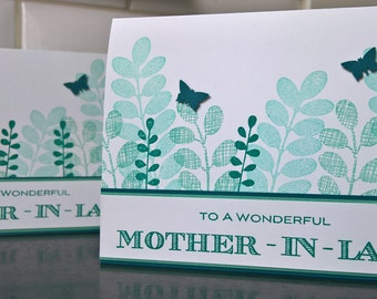 Birthday Card for Mother in Law, Mother's Day Card, Thank You Card MIL