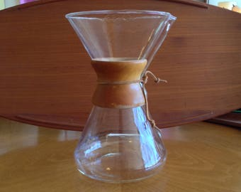 Early Embossed Quart Model Chemex Pour Over Coffee Pot