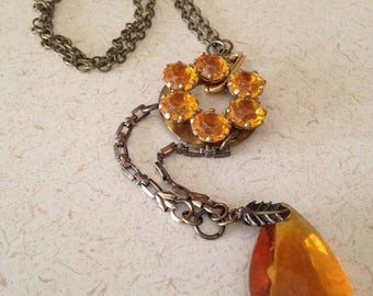 Antique and Vintage Assemblage Necklace
