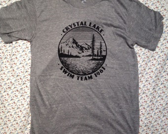 HORROR SHIRT friday the 13th camp crystal lake swim team 1981 tshirt like you went to the camp get it