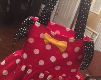 Minnie Mouse inspired Tote Bag/Purse
