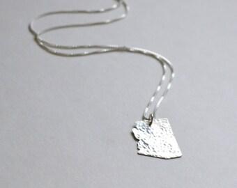 Arizona Necklace. State University Shaped I Heart Arizona Charm. State of Arizona Pendant Art Map. University of Arizona Necklace.