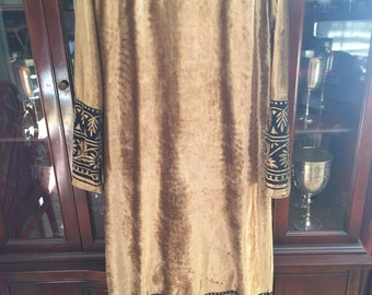 Caftan ruth norman for neiman marcus gold