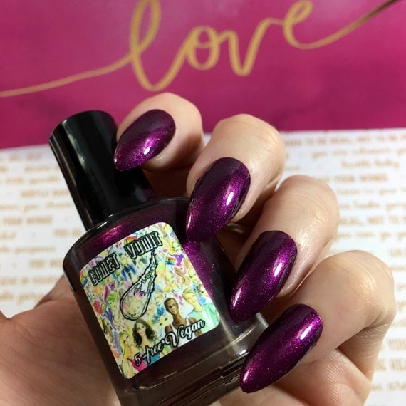 Lift Us Up to the Stars! Planned Parenthood Charity puple pink glitter vegan nail polish